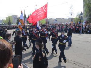 9 мая 2015 года в городе Тихвин прошол военный парад посвященный 70-летию Великой Победы